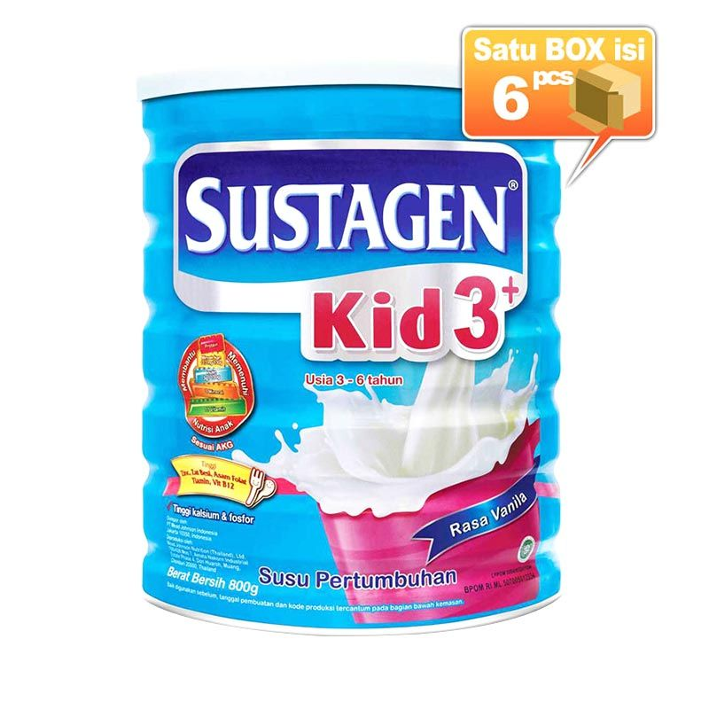Sustagen Kid 3+ Vanila 800gr Susu Formula [6 pcs/karton]