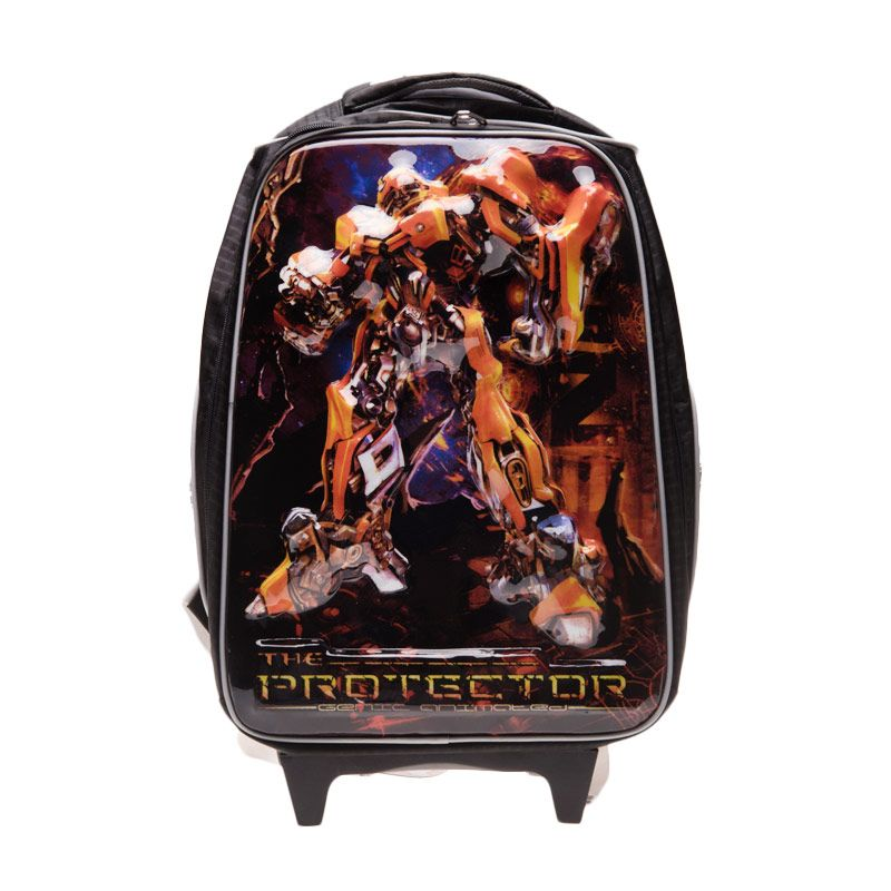 Unico 3D Transformers 23DT2 Black Tas Sekolah [Large]