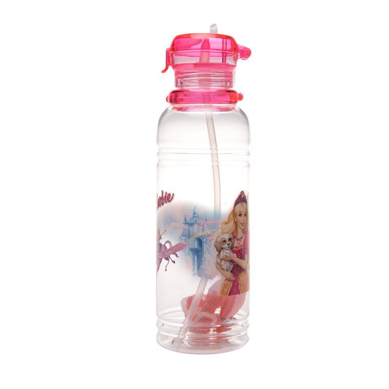 Unico Barbie 1312 Sedotan Pink Botol Minum [550 mL]