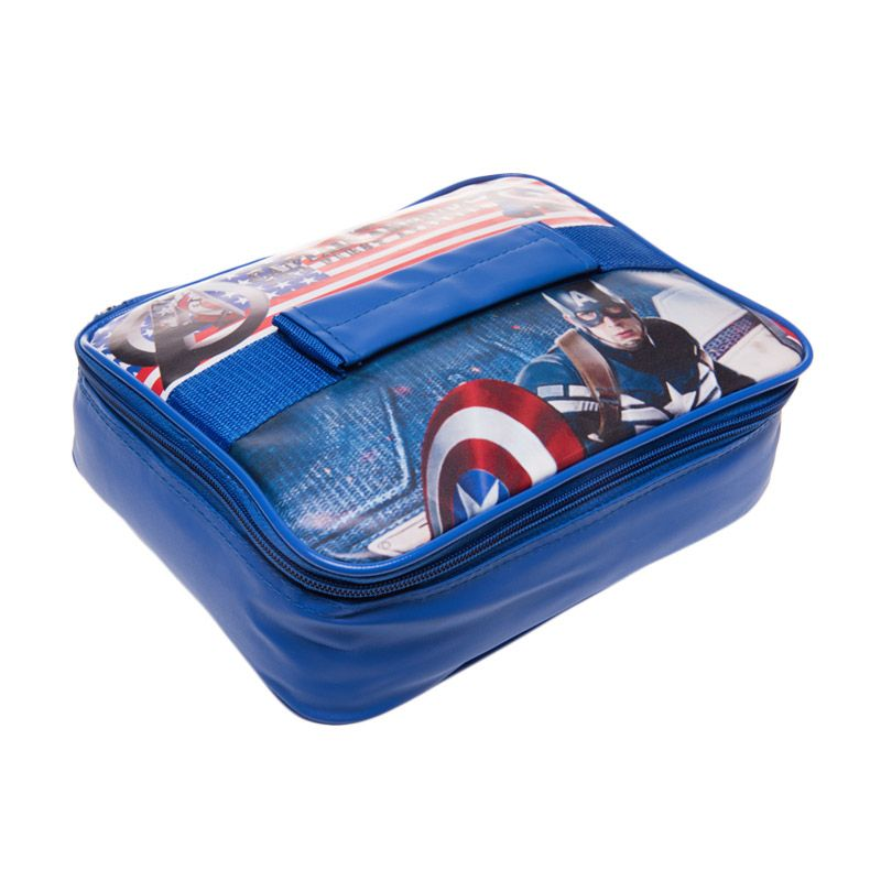 Unico Captain America 103 Blue Thermal Lunch Bag [Small]