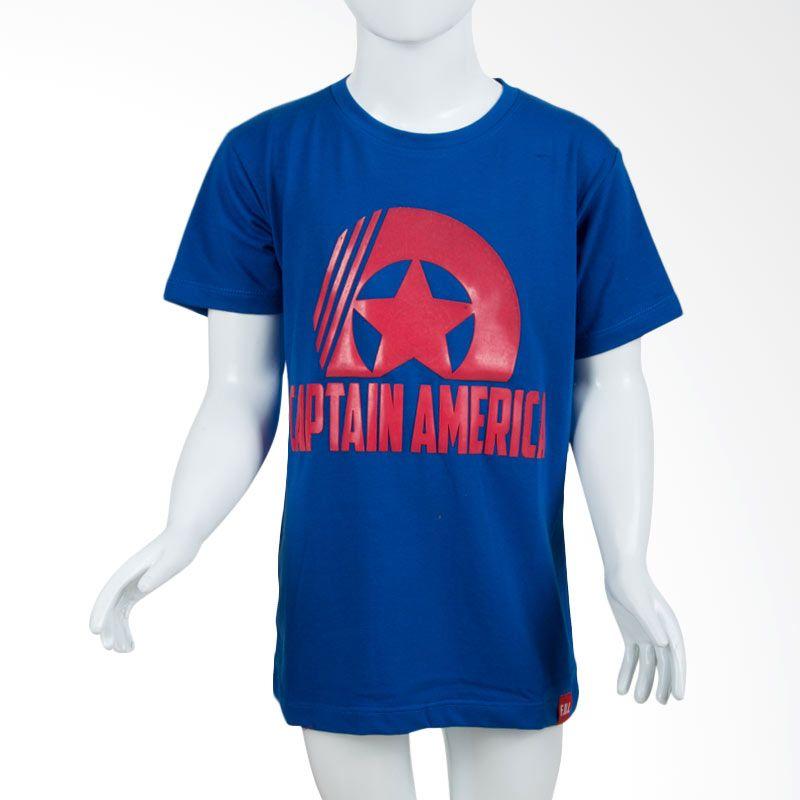 Unico Captain America Blue Kaos Anak