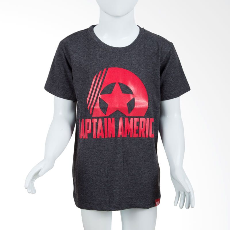Unico Captain America Grey Kaos Anak