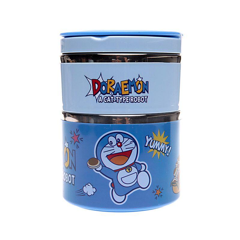 Unico Doraemon A Cat XY6236 Blue Rantang Tempat Makan [Size L / 2 Susun]