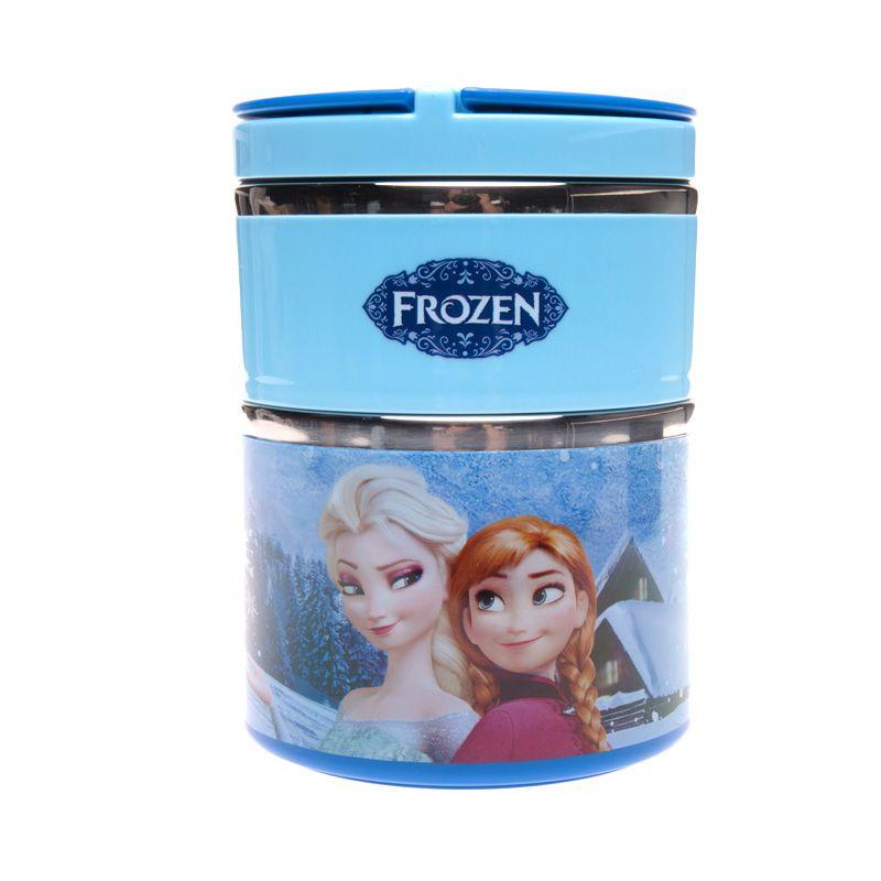 Unico Frozen XY6236 Blue Rantang Tempat Makan [Size L / 2 Susun]