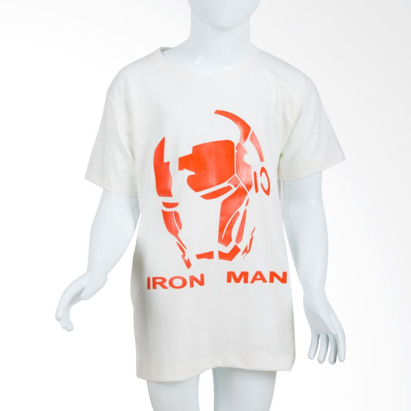 Unico Iron Man White Kaos Anak