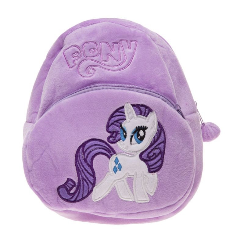 Unico LP2 2 Resleting Little Pony Purple Tas Ransel Anak