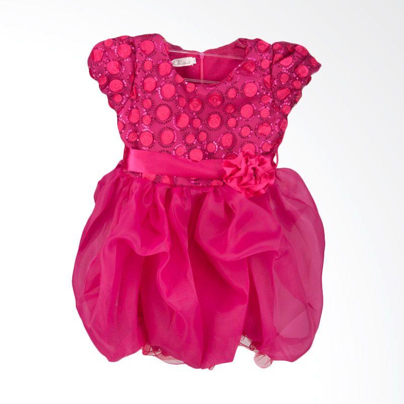 Unico Round Sequin Baloon Fanta Dress Anak
