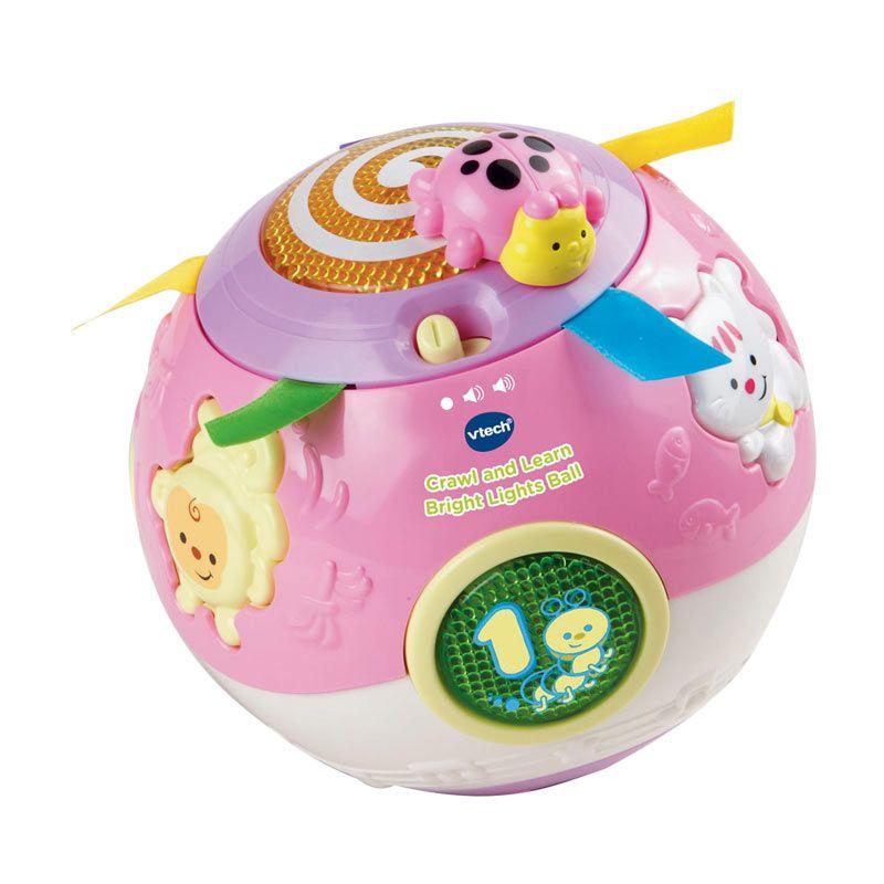 Vtech Crawl and Learn Bright Lights Ball 80047353 Pink Mainan Anak