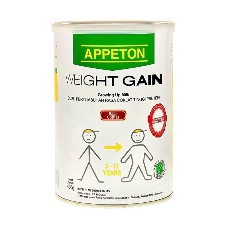 Appeton Weight Gain Child Coklat 450gr Tin
