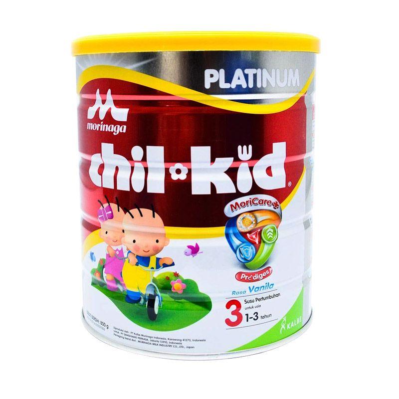 Morinaga Chil Kid Moricare+ Vanila 800gr Tin