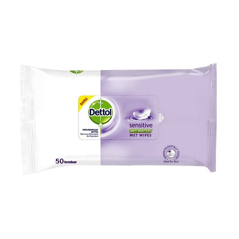 Dettol Sensitive Wipes Tissue Basah [50 s]