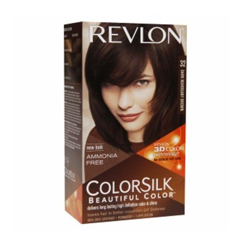 Revlon Colorsilk Beautiful Color Dark Mahogany Brown Cat Rambut