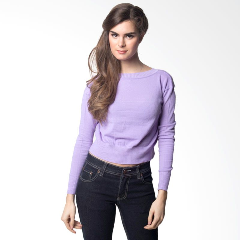 NoonaKu Crop Top Baby Purple Sweater