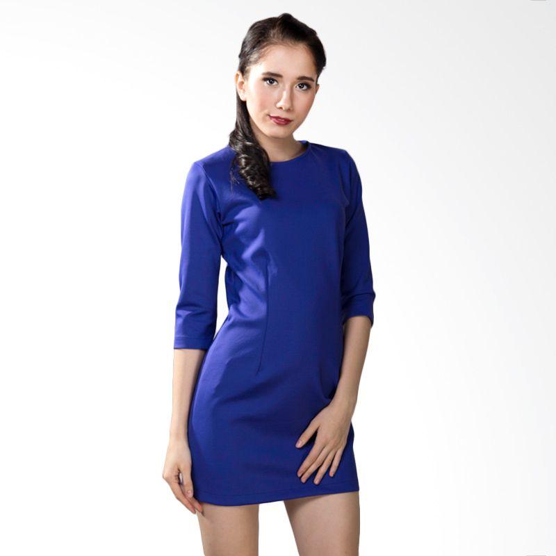 Papercut Bodycon Blue Dress