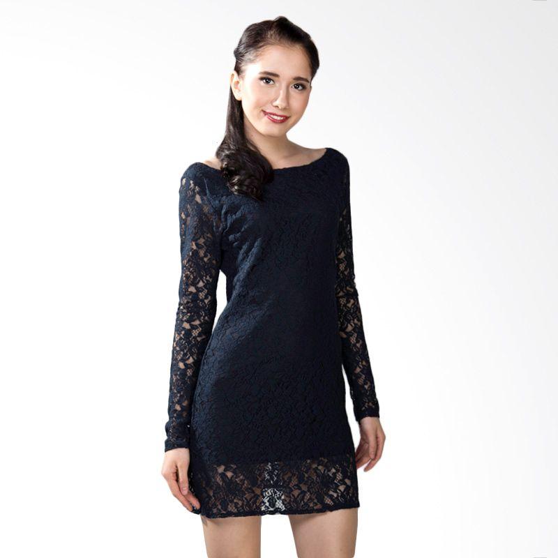 Papercut Lace Black Dress