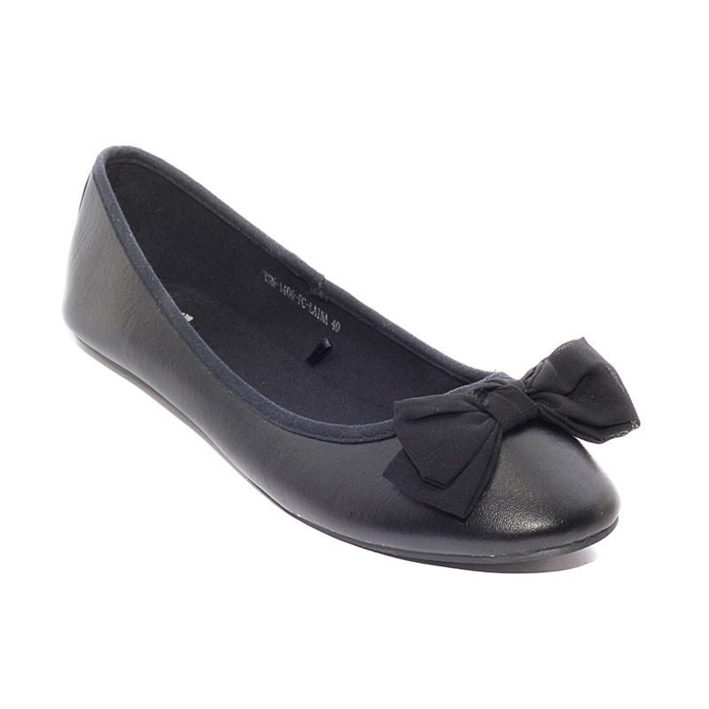 The Little Thing She Needs 1406 FC Laina 10B Black Sepatu Flat