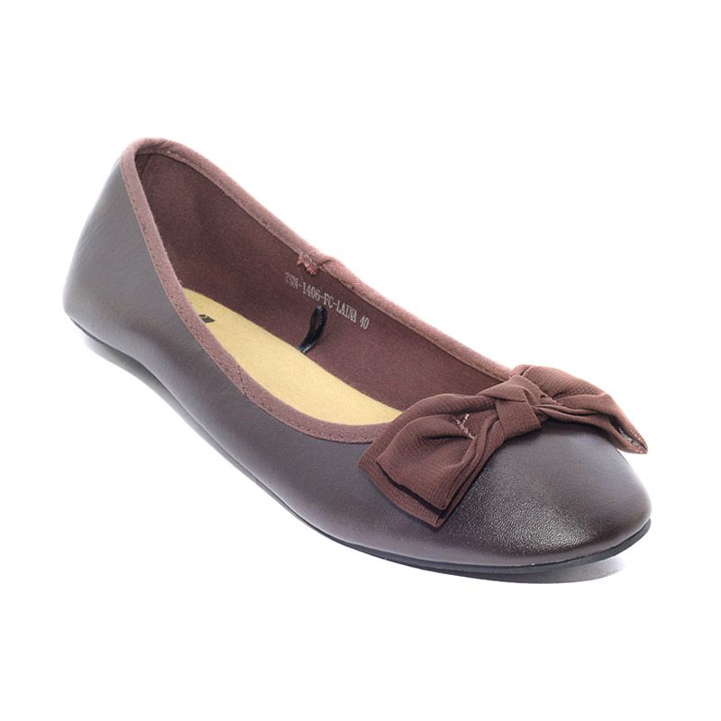 The Little Thing She Needs 1406 FC Laina 2B Brown Sepatu Flat