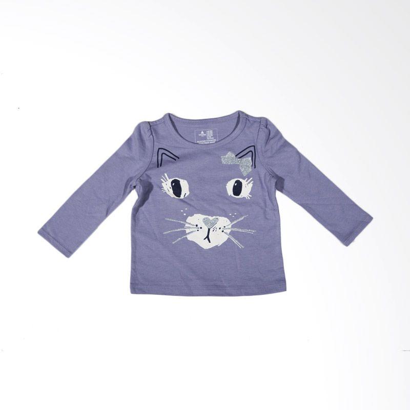 GAP Cat Purple Atasan Anak Perempuan