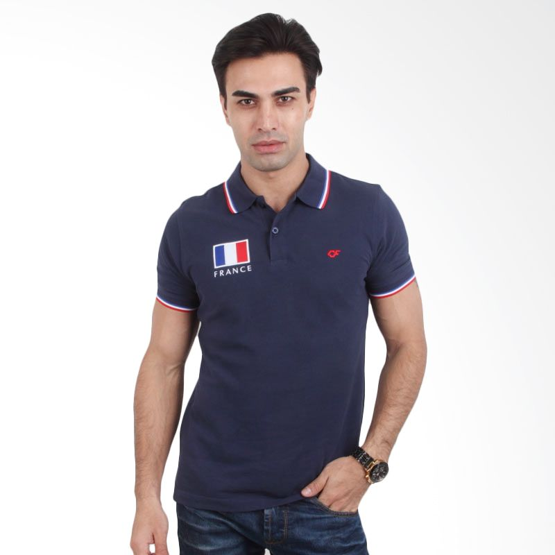 Country Fiesta Polo Shirt FIFA World Cup France Dark Blue