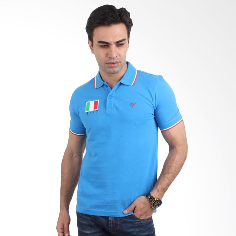 Country Fiesta Polo Shirt FIFA World Cup Italy Blue