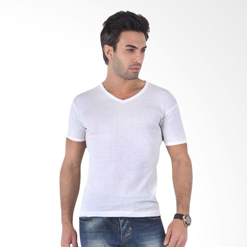 Elle Homme T Shirt V Neck EHT 1004V White