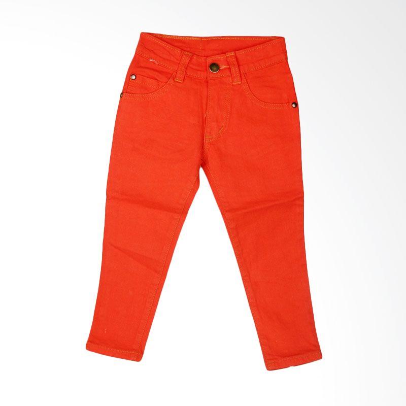 HENGHENG Denim Pants Orange