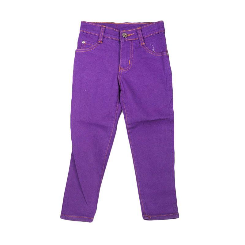 HENGHENG Denim Pants Purple