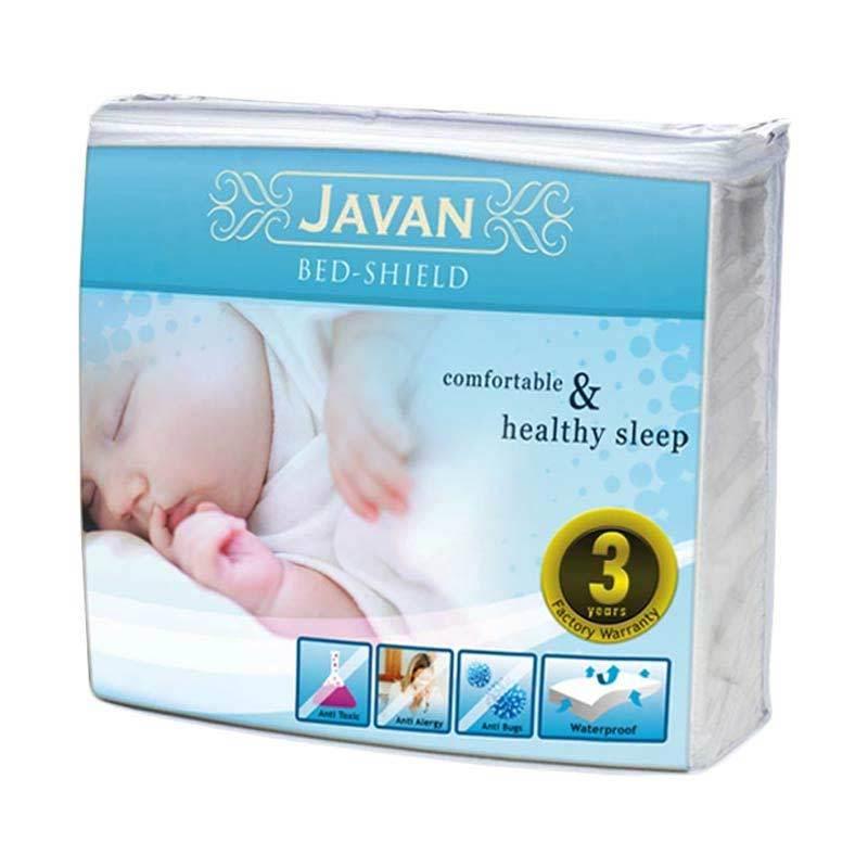 Javan Bed Shield Gold Series Queen Low Cream