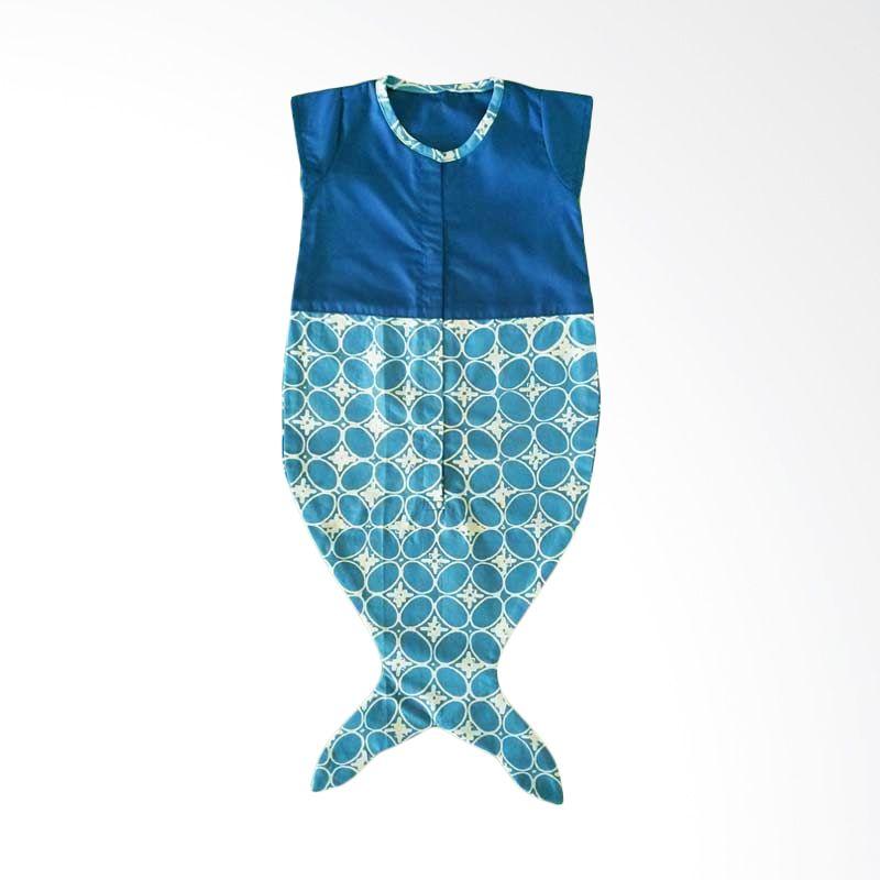 LBD Jumper Mermaid Motif 8 Biru Tua - Biru Muda