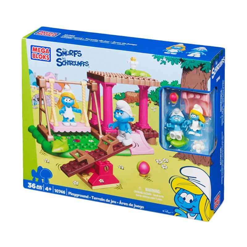 Mega Bloks Playground Smurf - Mainan Anak