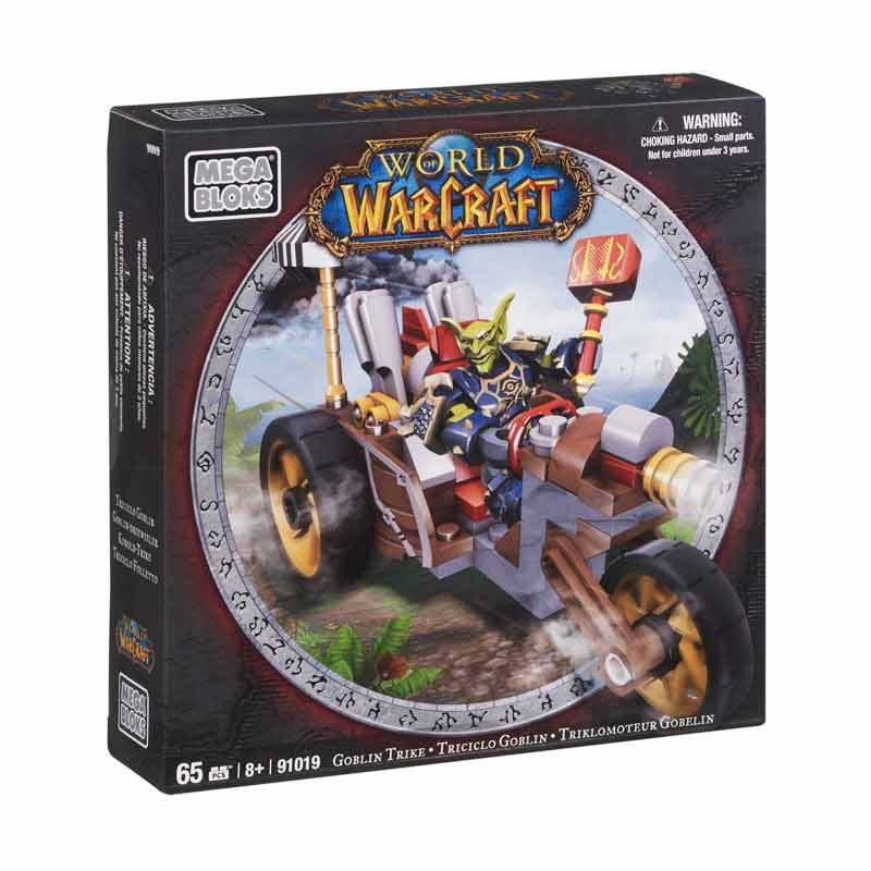 Mega Bloks WOW Horde Goblin Warrior With G Trike