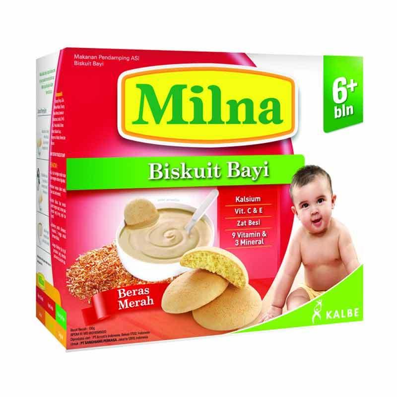 Milna Biscuit AA+DHA Beras Merah 6+ 130gr