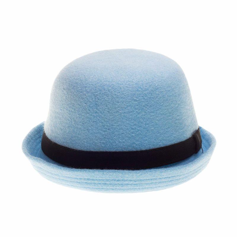 Poplin Bowler Hat Baby Blue