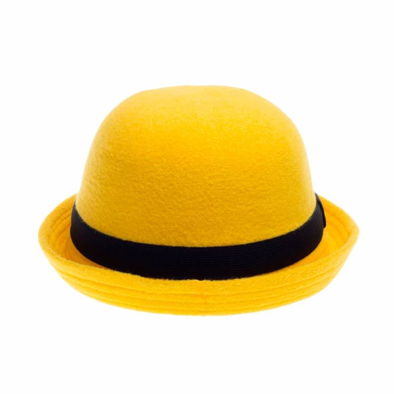 Poplin Bowler Hat Yellow