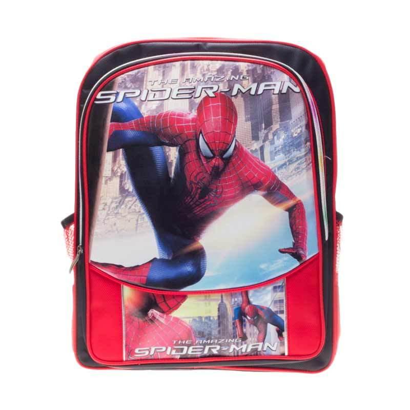 Poplin Spiderman Backpack Red