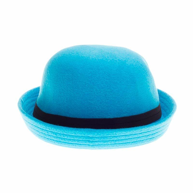 Poplin Bowler Hat Light Blue