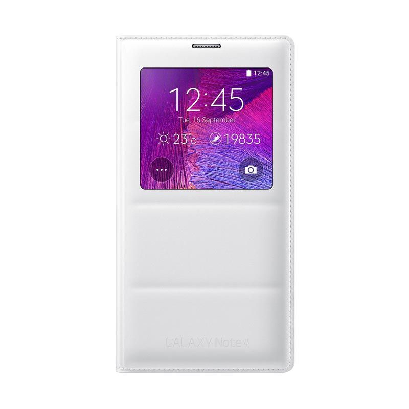 Samsung S-View Flip Cover Case for Galaxy Note 4 Frost White