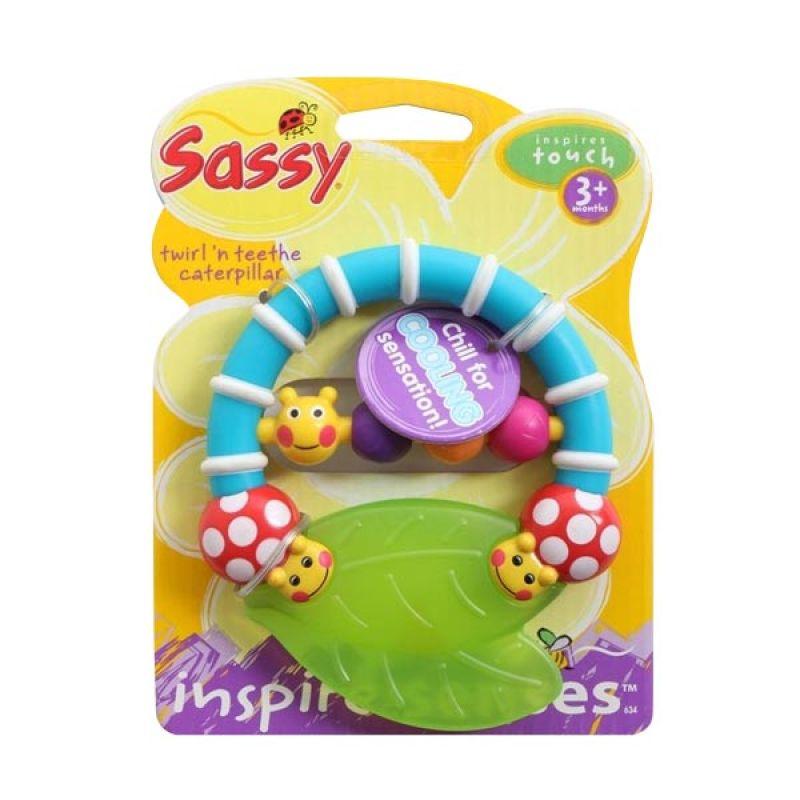 Sassy Twirl N Teeth Caterpillar Teether