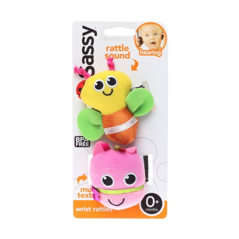 Sassy Wrist Rattle 2 Pack Bee
