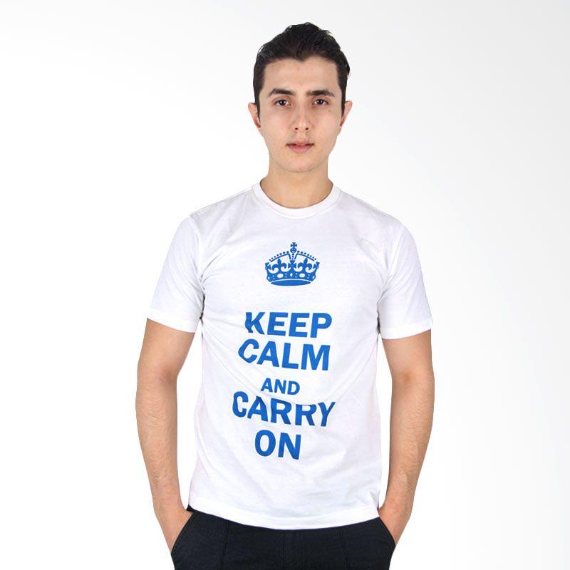 UrbanCo T-Shirt Keep Calm Carry On White