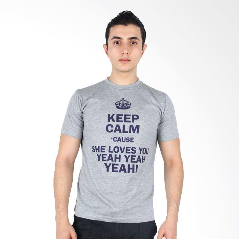 UrbanCo T-Shirt Keep Calm Yeah Grey
