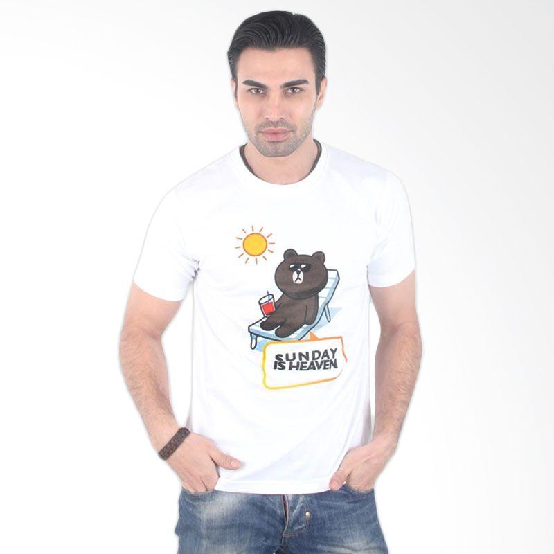 UrbanCo LINE Emoticon T-Shirt 14 White