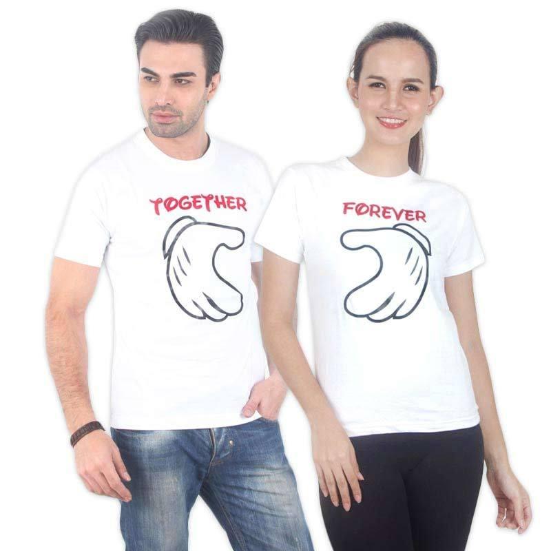 UrbanCo Love Couple T-Shirt 1 White