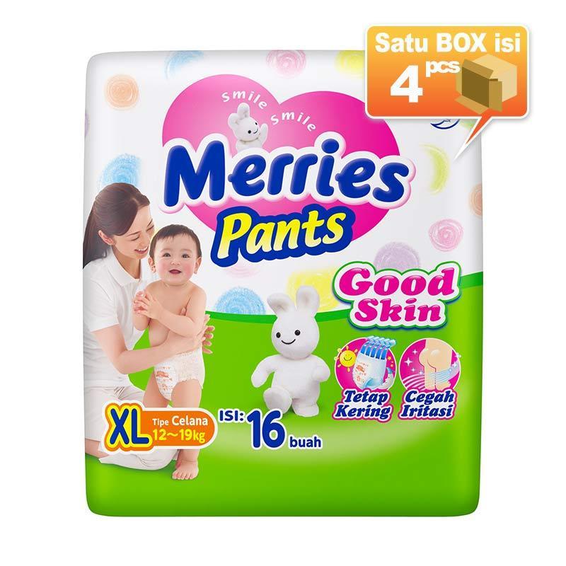 Merries Pants Good Skin XL 16 Popok Bayi [4 Pcs/Karton]