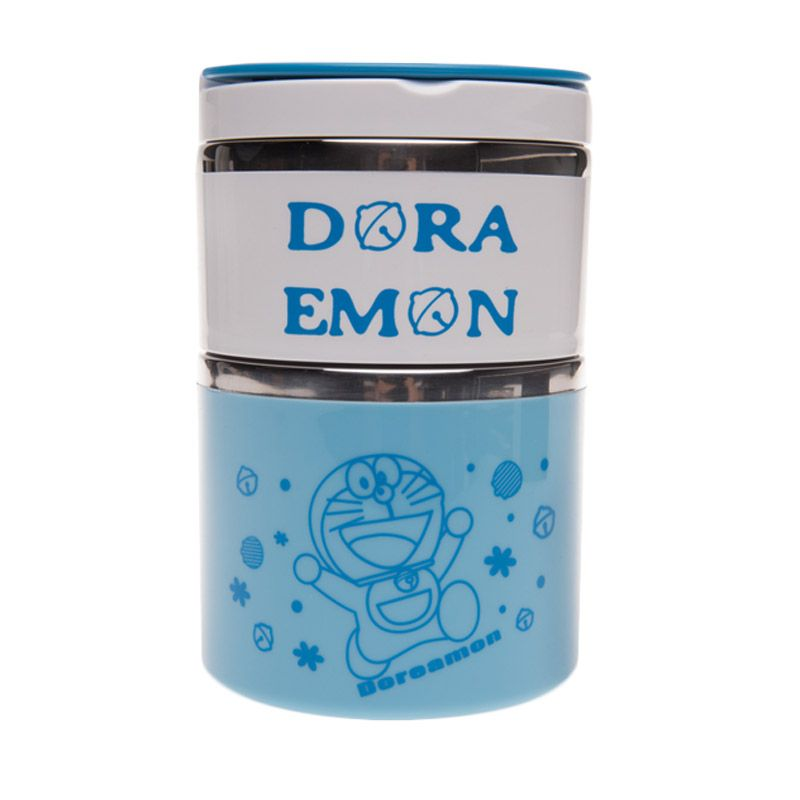 Unico Doraemon XY6233 Blue Rantang Tempat Makan [Size S / 2 Susun]