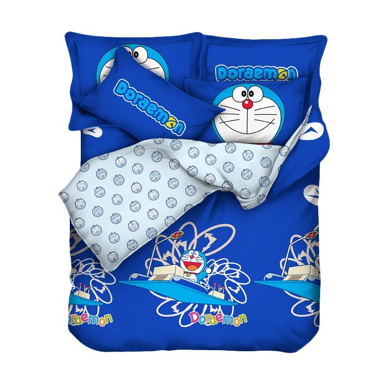 Bloomingdale Doraemon Timomachine Set Bed Cover dan Sprei