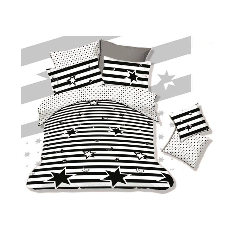 Pantone Natasha White Set Sprei dan Bed Cover