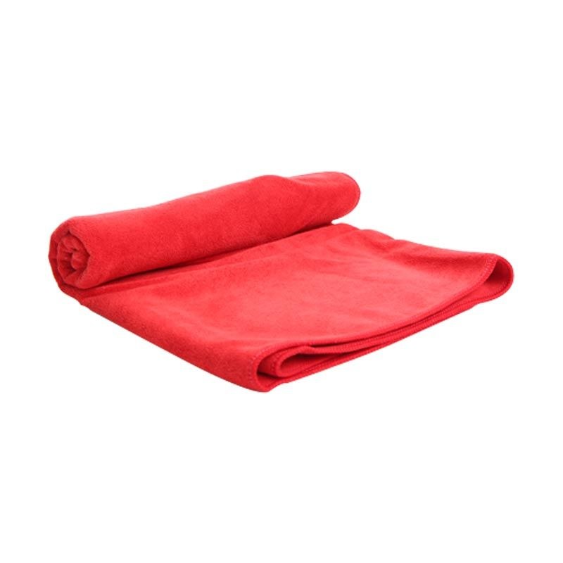 Quickdry Travel Red Bath Handuk [50 X 100]