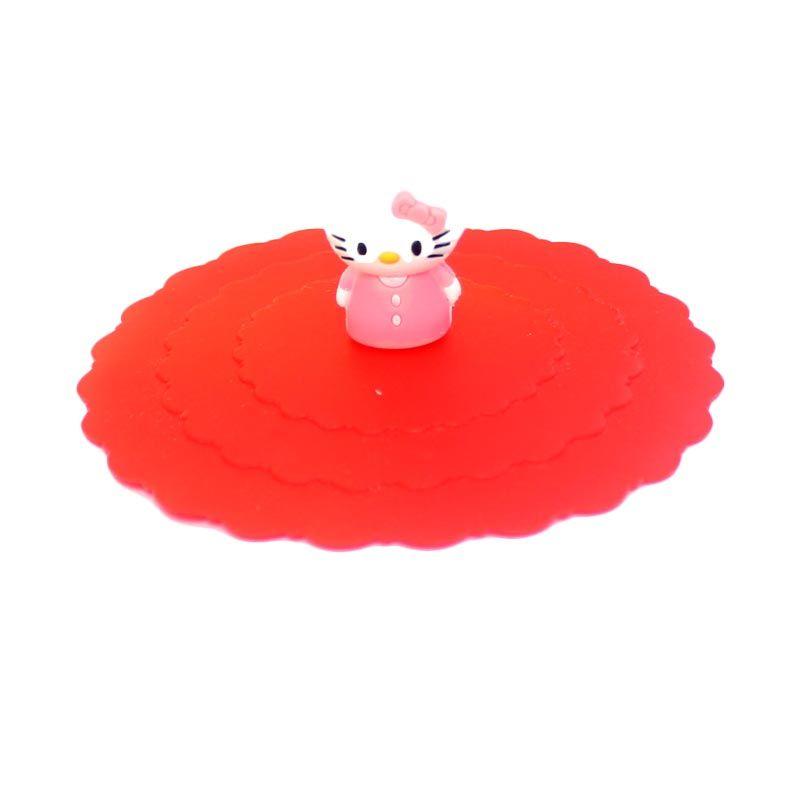 Bluedev1l Hello Kitty Silicon Merah Tutup Gelas