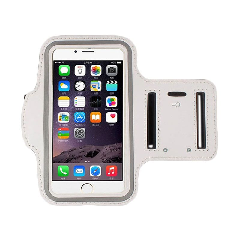 Bluetech Sports Gym Armband Running Exercise Silver Arm Case for Apple iPhone 6 Plus